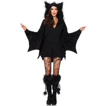 2PCS/LOT Black Sexy Bat Cosplay Costumes with Socks Female Bat Apparel Europe & American Style Sexy Halloween Costumes for Women Medium Free Size