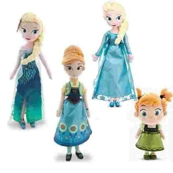2pcs/set Princess Plush Toy Fever Anna and Elsa Plush ChristmasDoll For Baby Kids - intl Price Philippines