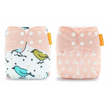 2x Premium Happy Flute Bamboo Nappy Cloth Diaper reusable washable