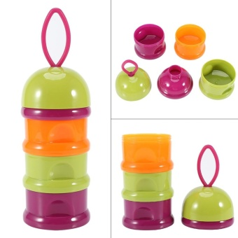 3 Layers Portable Infant Baby Milk Powder Formula Dispenser StorageBox Feeding Container #1 - intl - 4