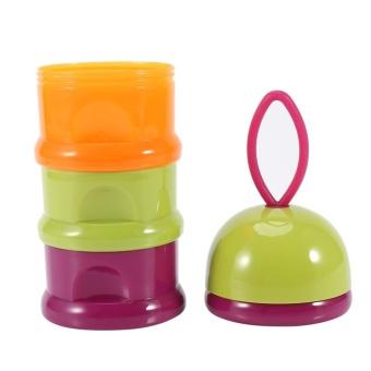 3 Layers Portable Infant Baby Milk Powder Formula Dispenser StorageBox Feeding Container #1 - intl - 3