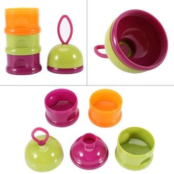 3 Layers Portable Infant Baby Milk Powder Formula Dispenser StorageBox Feeding Container #1 - intl - 5