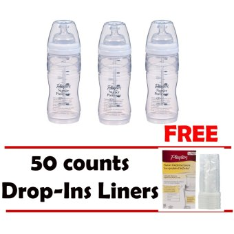 3 pack 8-10oz New Angled Playtex Nurser with Free 50 countsDrop-Ins Liners Price Philippines