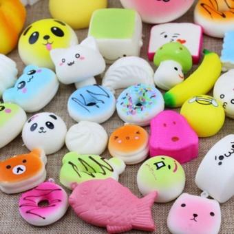 ... Panda Bread Source · 30Pcs Kawaii Mini Squishy Soft Simulated Food Bread Cake Buns Pendants Key Rings Keychains Phone Chain
