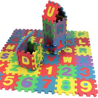 36 pcs Baby Kids Alphanumeric Educational Puzzle Blocks Infant Child Toy Gifts - intl