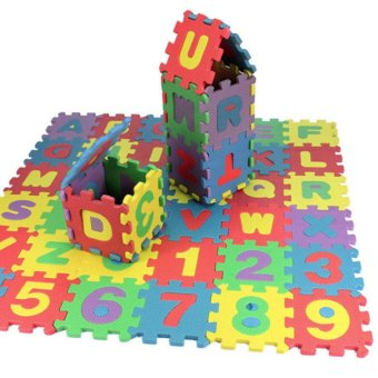 36 pcs Baby Kids Alphanumeric Educational Puzzle Blocks Infant PlayMat Child Toy Gifts - intl