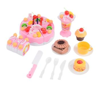360DSC Birthday Cake Pretend Play Food Toy Set for Kids Girls -Pink Price Philippines
