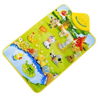 360DSC YIQU YQ2980 Kids Piano Musical Touch Play Crawl Mat Baby Fun Happy Farm Child Toy Xmas Gift