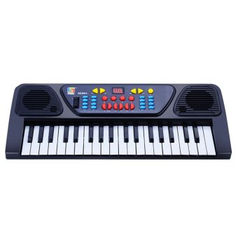 37-Key Music Electronic Organ Toy Keyboard Mini Piano Toy withMicrophone Quantity 1 Random Color
