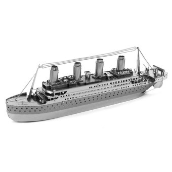 3D DIY Metallic Titanic Ship Model Nano Puzzle Model Building Toys