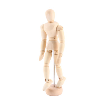3pcs Artist Movable Limbs Male Wooden Toy Figure Model MannequinArt Sketch Draw Action Toy Figures 5.5 8 12inch - intl - 4