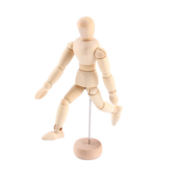 3pcs Artist Movable Limbs Male Wooden Toy Figure Model MannequinArt Sketch Draw Action Toy Figures 5.5 8 12inch - intl - 5