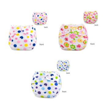 3Pcs Newborn Baby Nappy Adjustable Washable Diaper Cover Breathable Reusable Cloth Suit For 0-2 Years - intl