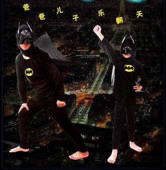 3PCS Top+Pants+Mask Cosplay Batman Halloween Costumes for Kids Boys(Size S Height 90-105CM) - intl - 4