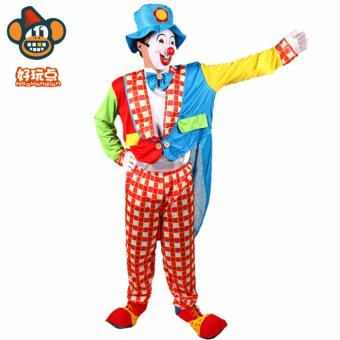 3PCS/Set Clown Cosplay Halloween Costumes for Adult WomenDress+Shawl+Cap Size 155-175CM - intl - 5