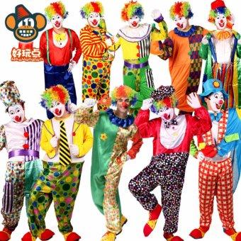 3PCS/Set Clown Cosplay Halloween Costumes for Adult WomenDress+Shawl+Cap Size 155-175CM - intl - 2