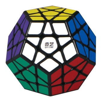 3x3 Megaminx Magic Cube Stickerless Dodecahedron Speed Cubes BrainTeaser Twist Puzzle Toy Style:Black bottom - intl
