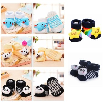 4 Pairs Baby Boy 3D Socks For 0-12 Months - intl