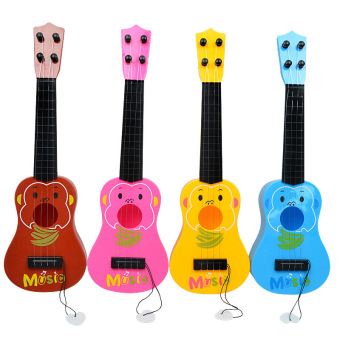 4 Strings Musical Plastic Toy Ukulele Small Guitar For BeginnersKids Children