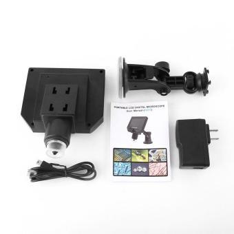 4.3 inch Display Portable LCD Digital Intelligent Microscope HD 600x Magnification (US Plug) - intl - 2