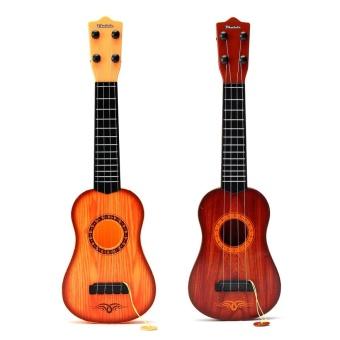 43cm 4 Strings Musical Ukulele Guitar Beginners Kids Children Christmas Gift Toy Yellow - intl