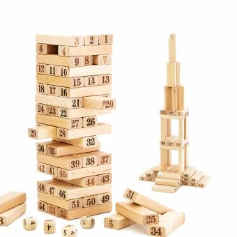 48pcs WISS Toy Wooden Toys Plain Jenga (Medium)