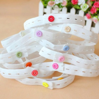 4ever 10pcs/set Nappy Changing Diaper Fixed Elastic Belt Nappy Fastener Holder Clip Fixed Baby Cloth Buckle - intl
