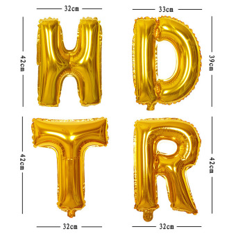 4ever 13pcs/lot HAPPY BIRTHDAY Letter Foil Balloons Party Decor(Gold) - 3