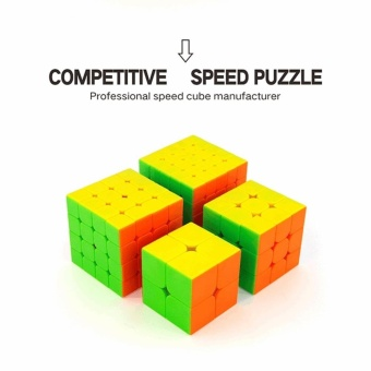 4Pcs MoYu Cubing Classroom Speed Cube Brain Teaser Gift Box Set 2x23x3 4x4 5x5 Stickerless Puzzle Magic Cube by LuckyGirl Store - intl