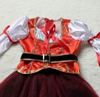 4PCS/Set Dress+Belt+Hat+Skirt Kids Party Cosplay Dress Up PirateHalloween Costumes for Girls (L Size Height 115-125CM) - intl - 4