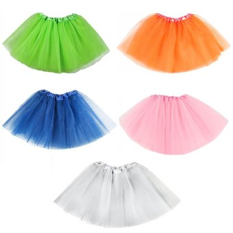5 PCS Assorted Color Kids Girls Sweet Tutu Ballet Dance Skirts Costume Dress for Birthday Party School Play Christmas Pageant - intl