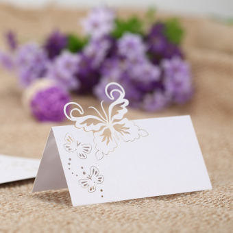 50pcs mariage wedding cards Wedding invitaions Decoration lasercutting invitation place wedding name cards party supplies,Pink -intl - 2