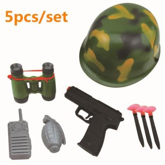 5pcs Plastic Children Simulatio Roleplay Toy set Policeman ArmySoldier toy set Educational Toy for Boys - intl Price Philippines