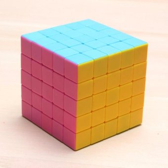 5x5 Rubiks Stickerless Magic Speed Cube Puzzle