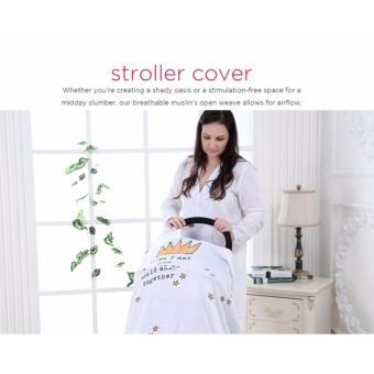 6 in 1 Multifunctional Organic Bamboo Muslin Swaddle Blanket cottontowel burp baby wrap nursing cover 120x120cm - 2