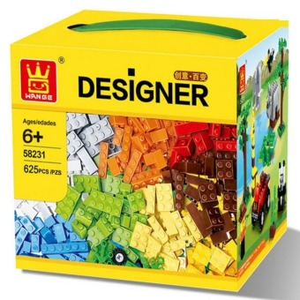 625 Pcs Building Blocks City DIY Creative Bricks Toys For ChildEducational Wange Building Block Bricks Compatible With Lego