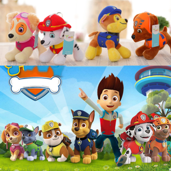6Pcs PAW PATROL COMPLETE SET of 6 Cute Dogs plush Doll Dog Toy Zuma12CM - intl