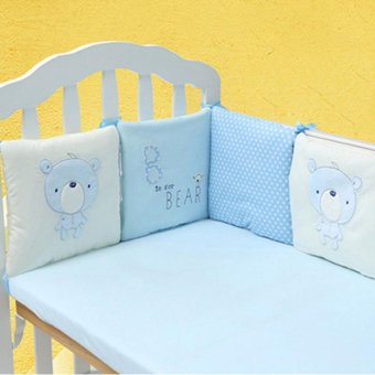 6PCS Popular Crib Bumper Protective Baby Nursery Bedding Comfy Infant Cot Pad - intl