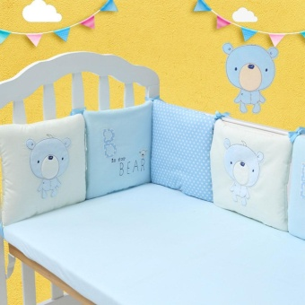 6pcs/set Comfortable Baby Crib Cotton Bumper Bed Protector Nursery Bedding - intl