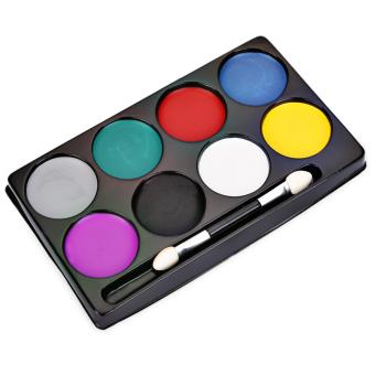 8 Color Environmental Protection Non-toxic Water Makeup Face Halloween Paint Color Devil Fans - 3