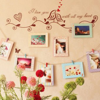 8Pcs 6 Inch Creative Gift DIY Home Decor Photo Frame Wall Hanging Paper Photo Frame Album - intl