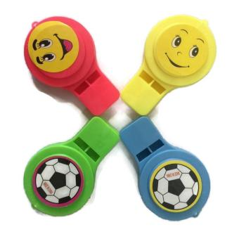 8Pcs/Lot Whistle Toys for Kids Party Favors Supplies Girl BoyBirthday Party Gift Plastic Assorted Color Whistle 45g