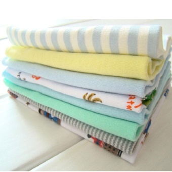 8Pcs/Pack 100% Cotton Newborn Baby Towels For Boys Girls Washcloth Handkerchief - intl