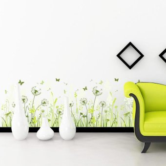 A Green grass Skirting Line Wall Sticker Decal Home Paper PVCMurals House Wallpaper Bedroom Kids Babies Living Room Art PictureDecoration with Powerful Professional Package - intl