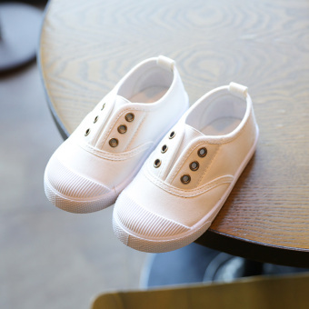 A pedal foot covering casual shoes children canvas shoes