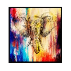 Abstract Art Style Elephant Printed Canvas Decoration Wall Art ForHome  Living Room Bedroom Office Hotel Pub