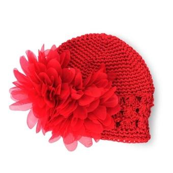AC Hot Sale Sweet Cute Crochet Flower Beanie Hat Cap Newborn BabyToddlers Girls - intl - 4