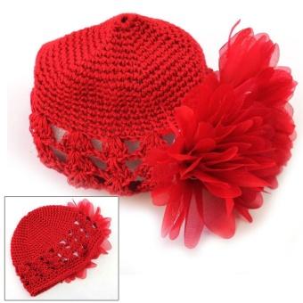 AC Hot Sale Sweet Cute Crochet Flower Beanie Hat Cap Newborn BabyToddlers Girls - intl - 2