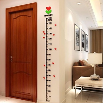 Acrylic Child Height Decor Kids Room Growth Chart Measure Wall Stickers (1.6 meters) - intl - 2