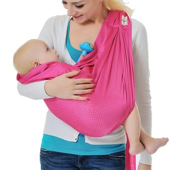 Adjustable Baby Water Ring Sling Baby Carrier Infant Wrap withAluminum Ring (Pink)